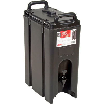 """Cambro 500LCD110 - Camtainer Beverage Carrier, 4-3/4 Gallon, 16-1/2""""D x 9""""W x 24-1/4""""H, Black"""