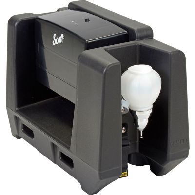 Handwash Station With Soap Dispenser & Multi-Fold Paper Towel Dispenser, Black