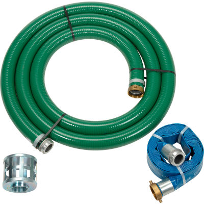 "Apache 98128657 2"" Trash Pump Hose Kits w/ Aluminum Couplings and Fittings"