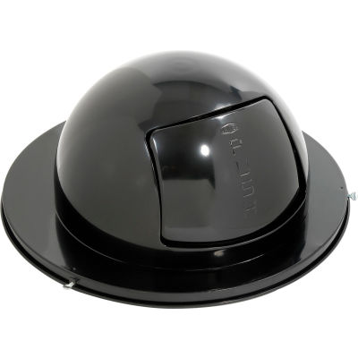 Rubbermaid® FG1855BK Steel 55 Gallon Self-Closing Dome Drum Top - Black