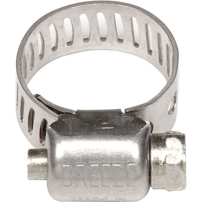 "Breeze Mini Hose Clamp - 9/16"" Min - 1-1/16"" Max - Pkg of 200"