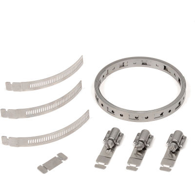 Breeze Make-A-Clamp - 50ft Band,10 Adjustable Fasteners, 5 Band Splices - Pkg of 6