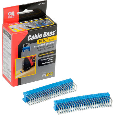 "Gardner Bender MPS-2080 Cable Boss® Staples 5/16"" Blue - 250 pk."
