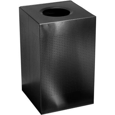 Rubbermaid® Silhouette SC22E Square Open Top Receptacle w/Plastic Liner, 40 Gallon - Black
