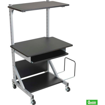"Balt® 42551 Alekto Compact Sit & Stand Workstation, 27-1/2""- 52-1/2""H x 30""W x 24""D"