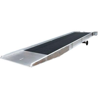 Aluminum Yard Ramp SY-168436-L with Steel Grating 36'L 16,000 Lb. Cap.