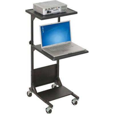 """Balt® 81052 PBL AV Cart, 41-1/2""""- 47-1/2""""H x 18""""W x 20""""D, Black"""