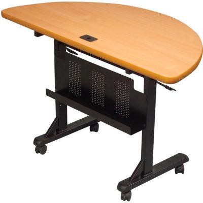 """Balt® Half Round Flipper Training Table - 48"""" x 24"""" - Teak"""