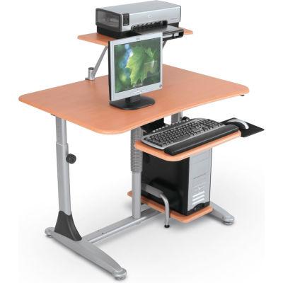 """Balt® 82493 Ergo E. Eazy Workstation, 29""""- 39""""H x 41""""W x 29""""D, Teak"""