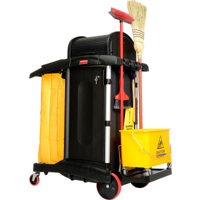 Rubbermaid® High Security Healthcare Cleaning Cart 9T75