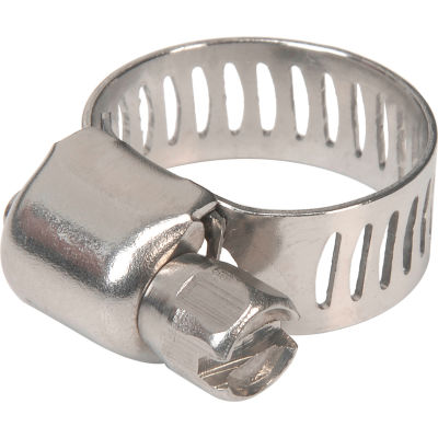 """Apache 48016998 1/4"""" - 5/8"""" 300 Stainless Steel Micro Worm Gear Clamp w/ 5/16"""" Wide Band"""