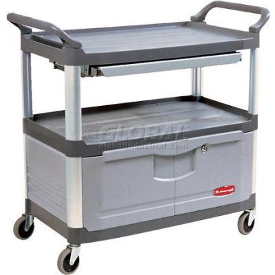 Rubbermaid® Xtra™ 4094 Gray Instrument Cabinet Cart & Sliding Shelf