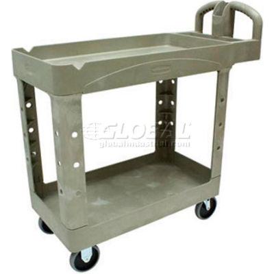 Rubbermaid® 4500-88 Beige HD Tray Shelf Service & Utility Cart 39 x 18