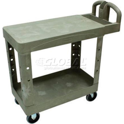 Rubbermaid® 4505 Beige Heavy-Duty Flat Shelf Utility Cart 39 x 17