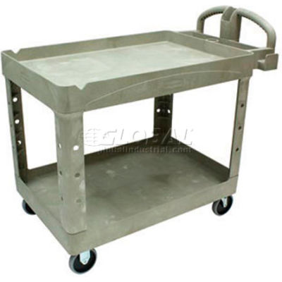 Rubbermaid® 4520-88 Beige HD Tray Shelf Service Cart 44 x 25