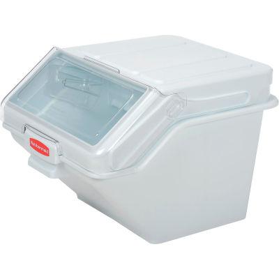 Rubbermaid® FG9G5800WHT, ProSave™ Shelf Ingredient Bin, Polyproplene, 12.63 Gal., White