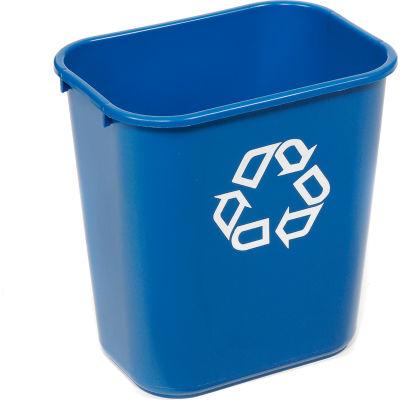 Rubbermaid® Deskside Recycling Wastebasket, 3 Gallon, Blue