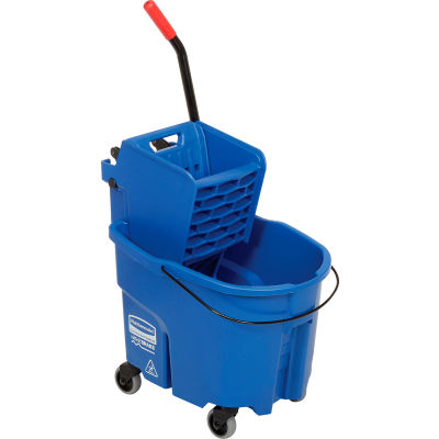 Rubbermaid WaveBrake® 2.0 Side Press Mop Bucket & Wringer Combo - Blue