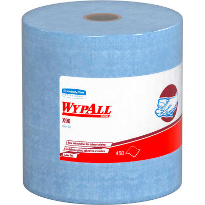 Kimberly-Clark Wypall X90 Cloths Jumbo Roll, 450 Cloths/Roll - KIM12889