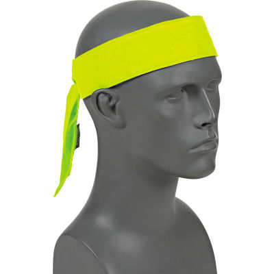 Ergodyne® Chill-Its® 6700CT Evap. Cooling Bandana w/ Built-In Cooling Towel - Tie, Lime
