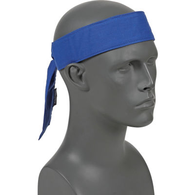 Ergodyne® Chill-Its® 6700CT Evap. Cooling Bandana w/ Built-In Cooling Towel - Tie, Blue
