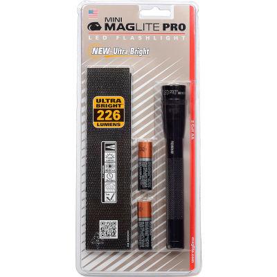 Maglite® SP2P01H Mini Pro™ 2 Cell AA LED Flashlight Black