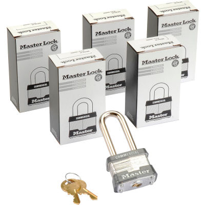 Master Lock® No. 3KALH General Security Laminated Keyed Alike Padlocks - Pkg Qty 6