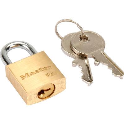 Master Lock® No. 4120 General Security Brass Solid Body Padlocks - Pkg Qty 12
