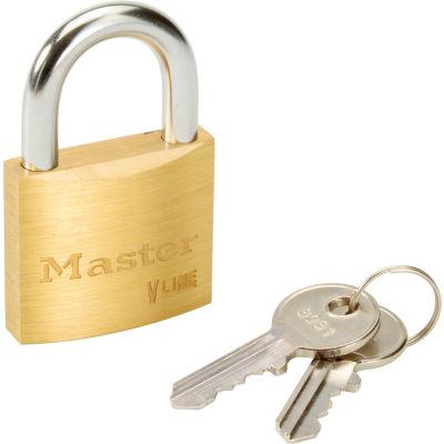 Master Lock® No. 4140KA - 3231 General Security Brass Solid Body Padlocks - Pkg Qty 12