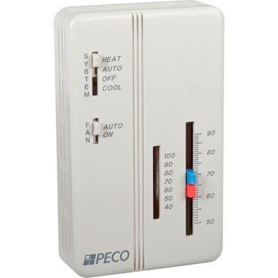PECO Trane Compatible Zone Sensor SP155-011 Heat-Off-Cool Switch, On-Auto Fan Control, Dual Temp Adj