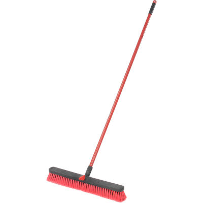 Libman Commercial Push Broom with Resin Block - 24 - Medium-Duty Bristles - 805 - Pkg Qty 4
