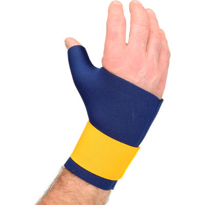 OccuNomix Neo Thumb/Wrist Wrap Navy, Large, 400-014