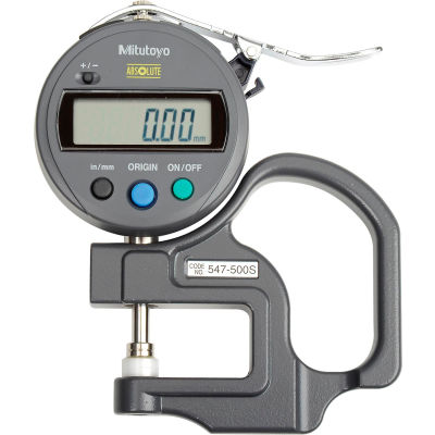 """Mitutoyo 547-500S 0-.47"""" / 0-12MM Digimatic Digital Thickness Gage (.005"""" Resolution)"""