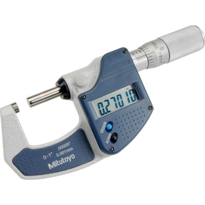 """Mitutoyo 293-832-30 Digimatic 0-1""""/25.4MM  Digital Micrometer W/Ratchet Friction Thimble"""