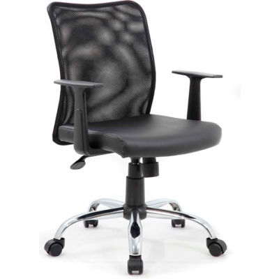 Boss Budget Mesh Task Chair with T-Arms - Black