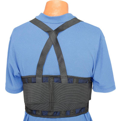 """Standard Back Support Belt, Adjustable Suspenders, Large, 38-47"""" Waist Size"""