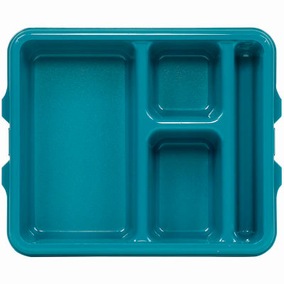 Cambro 9114CP414 - Tray 4compartment 9 x 11, Teal - Pkg Qty 24