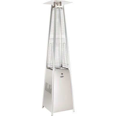 Quartz Glass Tube Patio Heater, 40000 BTU, Propane, Stainless Steel