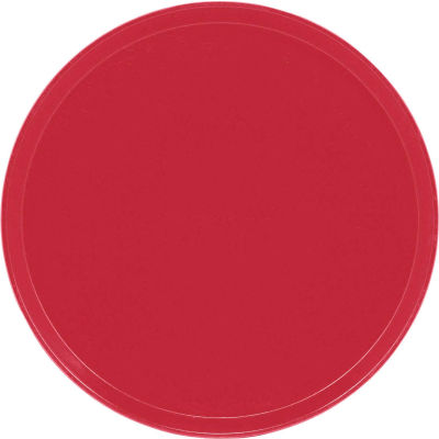 """Cambro 1950221 - Camtray 19.5"""" Round Low,  Ever Red - Pkg Qty 12"""