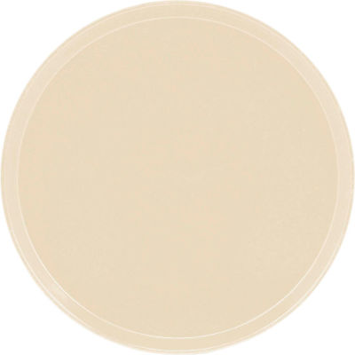 """Cambro 1550537 - Camtray 15.5"""" Round Low,  Cameo Yellow - Pkg Qty 12"""