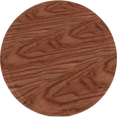 "Cambro 1950304 - Camtray 19.5"" Round Low,  Country Oak - Pkg Qty 12"