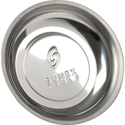 """Sunex Tools 8810A 6"""" Mighty Mag Round Single Magnetic Parts Tray"""