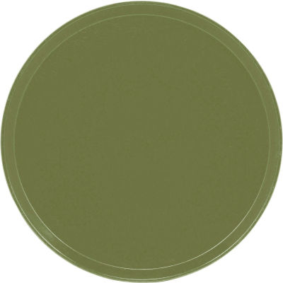 """Cambro 1550428 - Camtray 15.5"""" Round Low,  Olive Green - Pkg Qty 12"""
