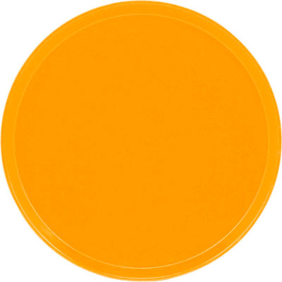 "Cambro 1550504 - Camtray 15.5"" Round Low,  Mustard - Pkg Qty 12"