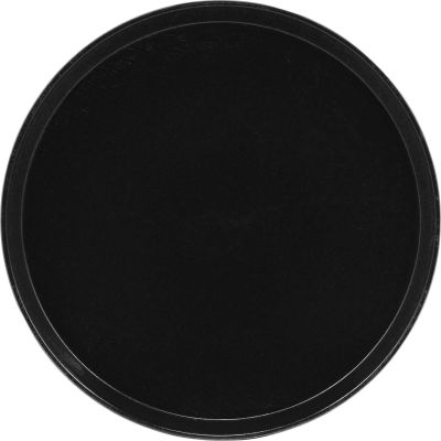 "Cambro 1950110 - Camtray 19.5"" Round Low,  Black - Pkg Qty 12"