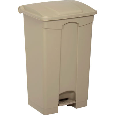 Safco® Plastic Step-On Receptacle- 23 Gallon Beige - 9923TN