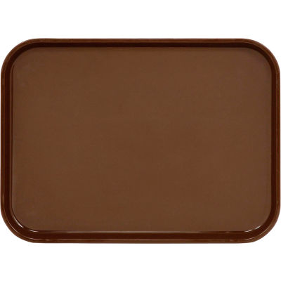 "Cambro PT1014167 - Tray Polytread 10"" x 14"" Rectangular,  Brown - Pkg Qty 24"