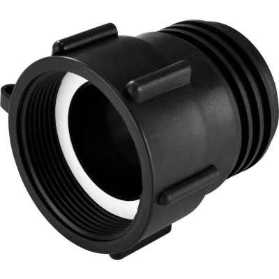 """Global Industrial™ Polypropylene 2"""" Female NPT Pipe Thread x S60x6 Male Buttress Thread Adapter"""