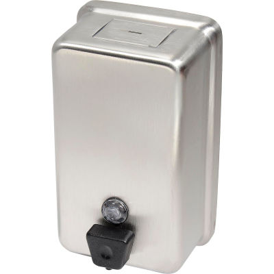 Frost Wall Mount Manual Vertical Liquid Soap Dispenser - Stainless - 708A