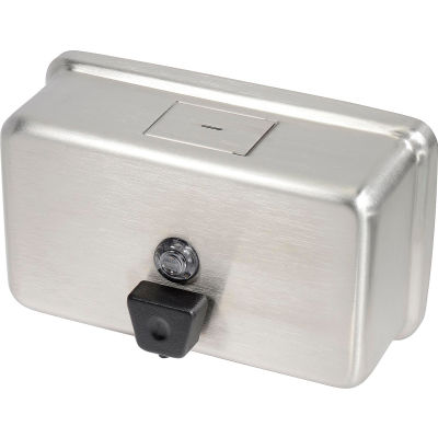 Frost Wall Mount Manual Horizontal Liquid Soap Dispenser - Stainless - 710A